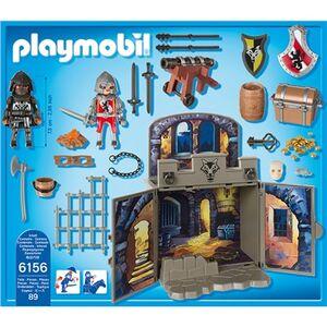 Giocattolo Playmobil Cavalieri Scrigno dei Cavalieri del Lupo (6156) Playmobil 2