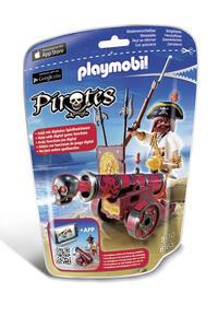 Playmobil Pirati. Bucaniere con App-cannon rosso (6163)
