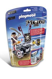 Playmobil Pirati. Pirata con App-cannon nero (6165) - 3