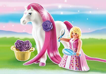 Giocattolo Playmobil. Principessa Rosalie con pony dalla lunga chioma (6166) Playmobil 1