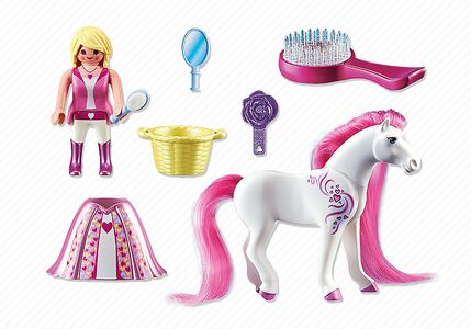 Giocattolo Playmobil. Principessa Rosalie con pony dalla lunga chioma (6166) Playmobil 2