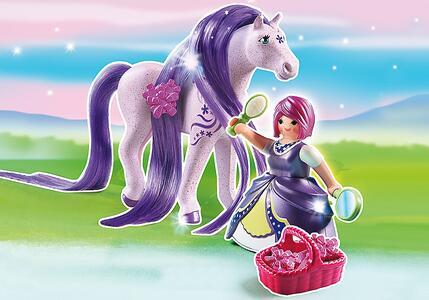 Playmobil. Principessa Violetta con pony dalla lunga chioma (6167) - 3