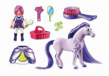 Playmobil. Principessa Violetta con pony dalla lunga chioma (6167) - 4