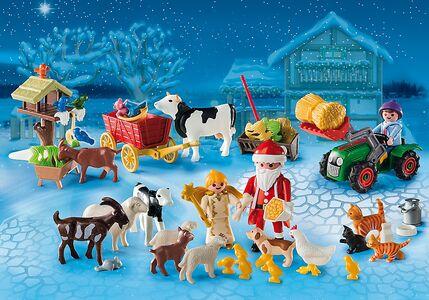 Giocattolo Playmobil Calendario dell'Avvento. Natale nella fattoria (6624) Playmobil 1