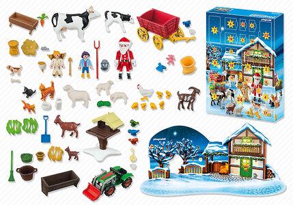 Giocattolo Playmobil Calendario dell'Avvento. Natale nella fattoria (6624) Playmobil 3