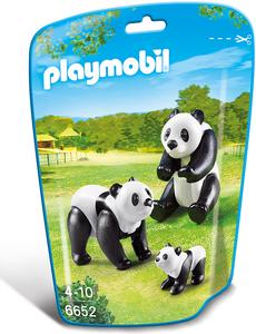 Giocattolo Playmobil Zoo Famiglia di Panda (6652) Playmobil 0