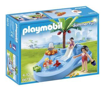 Giocattolo Playmobil. Piscinetta dei bimbi con scivolo (6673) Playmobil 0