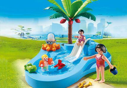 Giocattolo Playmobil. Piscinetta dei bimbi con scivolo (6673) Playmobil 1