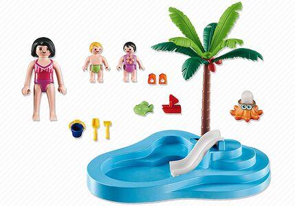 Giocattolo Playmobil. Piscinetta dei bimbi con scivolo (6673) Playmobil 3