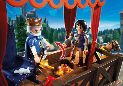 Giocattolo Playmobil Super 4. Tribuna Reale con Alex (6695) Playmobil 3
