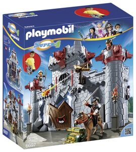 Giocattolo Playmobil Super 4. Castello Portatile del Barone Nero (6697) Playmobil 0