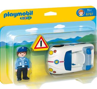 Giocattolo Playmobil 1-2-3. Auto della Polizia (6797) Playmobil 0