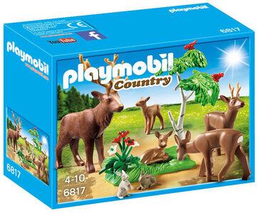 Giocattolo Playmobil Branco di Cervi con Cuccioli e Leprotti (6817) Playmobil