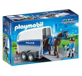 Giocattolo Playmobil Poliziotta a Cavallo con Rimorchio (6922) Playmobil 0