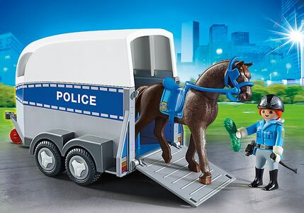 Giocattolo Playmobil Poliziotta a Cavallo con Rimorchio (6922) Playmobil 1