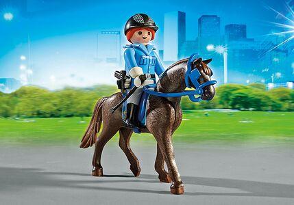 Giocattolo Playmobil Poliziotta a Cavallo con Rimorchio (6922) Playmobil 4