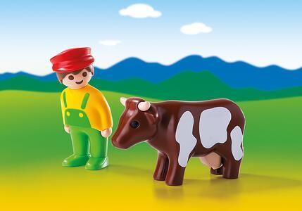 Playmobil 1-2-3. Contadino con Mucca (6972) - 3