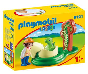 Playmobil 1-2-3. Ragazza con Uovo Di Dinosauro - 7