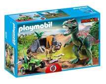 Giocattolo Limited Edition Playmobil 9231. Dinosauri. Tirannosauro RexCon Esploratore In Quad Playmobil
