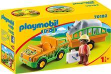 Playmobil (70182). Veicolo Zoo Con Rinoceronte 1.2.3