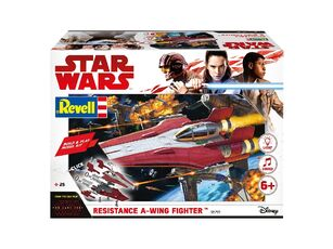 Giocattolo Modellino Build & Play Resistance A-Wing Fight. Red (Star W. The Last Jedi) Revell Revell