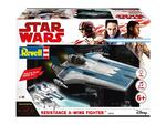 Modellino Build & Play Resistance A-Wing Fighter Blue (Star W. The Last Jedi) Revell