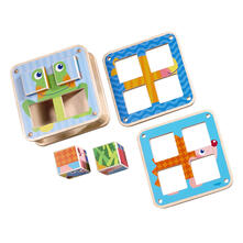 Haba Cubes Puzzle Garden Animals Toy