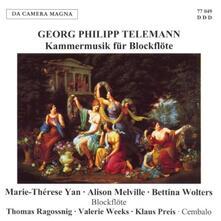 Kammermusik Fur Blockflot - CD Audio di Georg Philipp Telemann