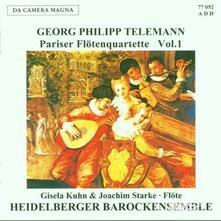Pariser Flotenquartette 1 - CD Audio di Georg Philipp Telemann