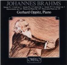 Sonata per Pianoforte No. 3&4 - CD Audio di Johannes Brahms