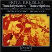 Transcriptions for Violin - CD Audio di Fritz Kreisler