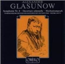 Sinfonia n.8 op.83 - CD Audio di Alexander Kostantinovich Glazunov