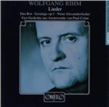 Lieder - CD Audio di Wolfgang Rihm