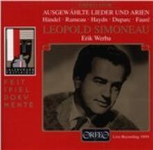 Ausgewahlte Lieder & Arie - CD Audio di Leopold Simoneau