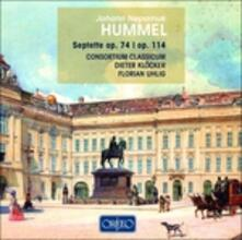 Septets Opp. 74 & 114 - CD Audio di Johann Nepomuk Hummel