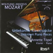 Unknown Piano Pieces - CD Audio di Wolfgang Amadeus Mozart