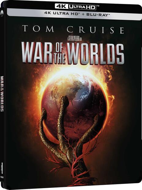 La guerra dei mondi. Steelbook (Blu-ray + Blu-ray Ultra HD 4K) di Steven Spielberg - Blu-ray + Blu-ray Ultra HD 4K