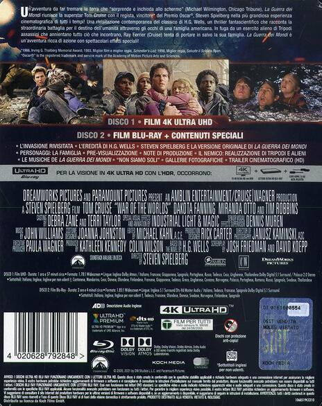 La guerra dei mondi. Steelbook (Blu-ray + Blu-ray Ultra HD 4K) di Steven Spielberg - Blu-ray + Blu-ray Ultra HD 4K - 2