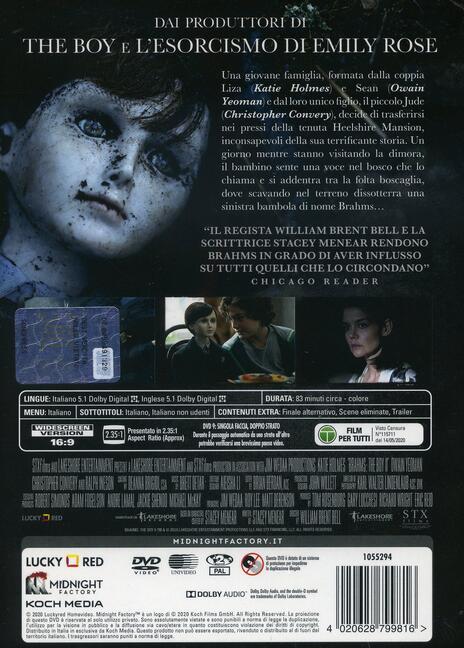 The Boy. La maledizione di Brahms (DVD) di William Brent Bell - DVD - 2