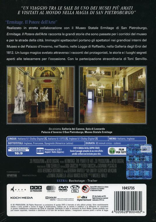 Ermitage. Il potere dell'arte (DVD) di Toni Servillo - DVD - 2