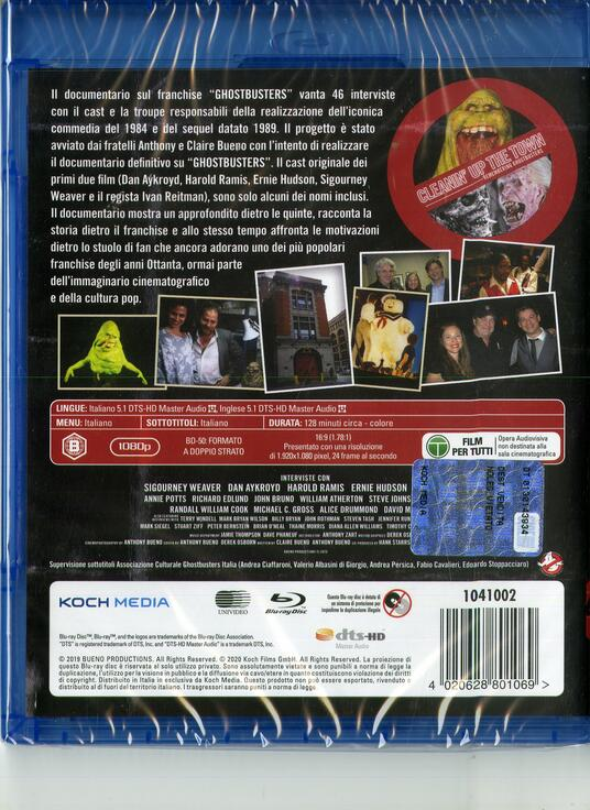 Cleanin' Up the Town. Remembering the Ghostbusters (Blu-ray) di Anthony Bueno - Blu-ray - 2