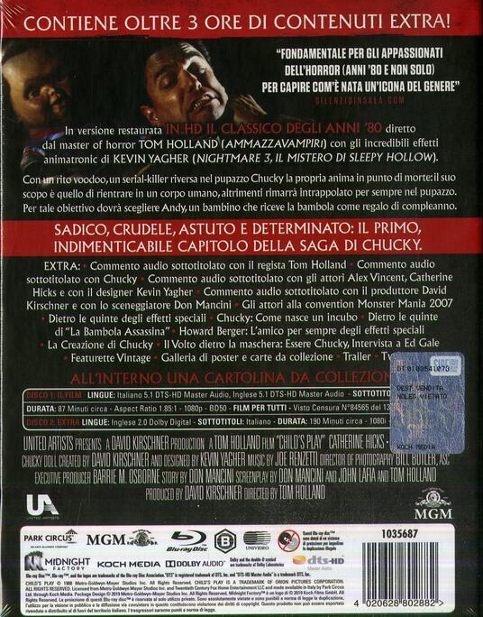 La bambola assassina (1988). Limited Edition (2 Blu-ray) di Tom Holland - Blu-ray - 2