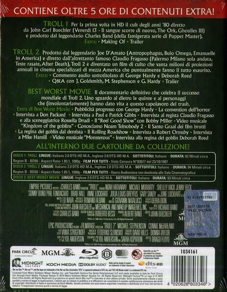Troll 1-2 (3 Blu-ray) di John Carl Buechler,Claudio Fragasso - 3