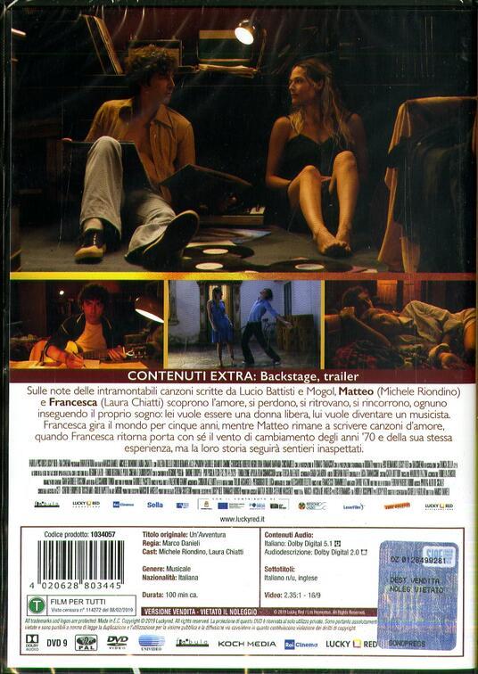 Un' avventura (DVD) di Marco Danieli - DVD - 2