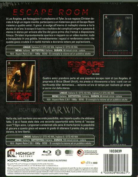 Escape Room Trilogy (3 Blu-ray) di Peter Dukes,Jordi Castejón,Will Wernick - 2