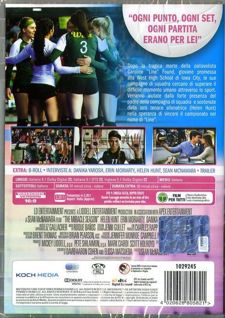 The Miracle Season. Una stagione da ricordare (DVD) di Sean McNamara - DVD - 2