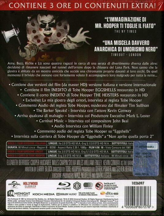 Il tunnel dell'orrore. Limited Edition (3 Blu-ray) di Tobe Hooper - Blu-ray - 3