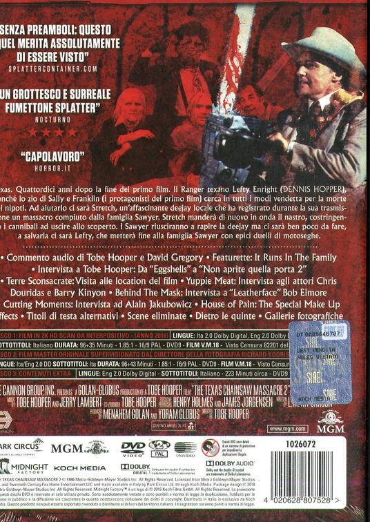 Non aprite quella porta 2. Limited Edition con Booklet (3 DVD) di Tobe Hooper - DVD - 2