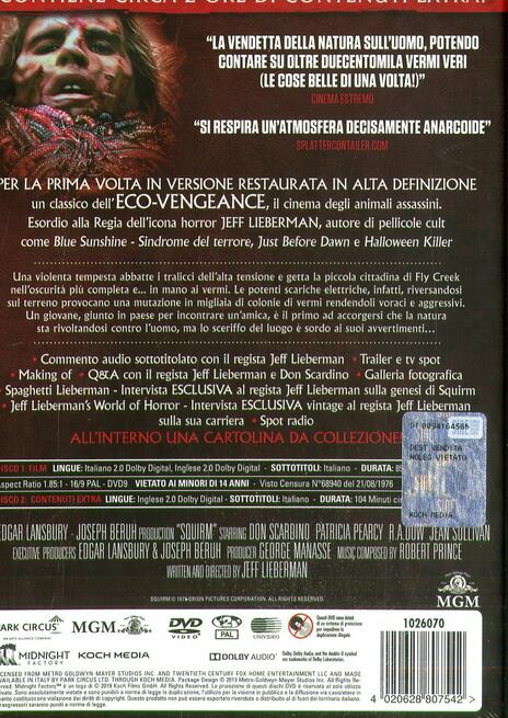 I carnivori venuti dalla Savana. Squirm (DVD) di Jeff Lieberman - DVD - 3