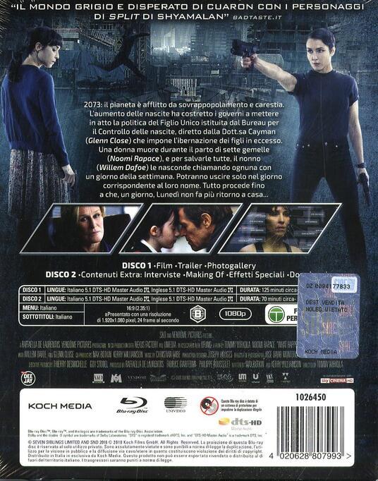 Seven Sisters. Limited edition con 7 card da collezione (2 Blu-ray) di Tommy Wirkola - Blu-ray - 3